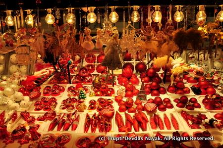 Christmas ornaments display