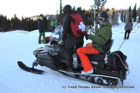 Ride a snowmobile at Grand Targhee