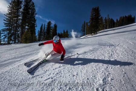 Shredding Skiing